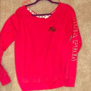 Coral PINK Terrycloth Pullover
